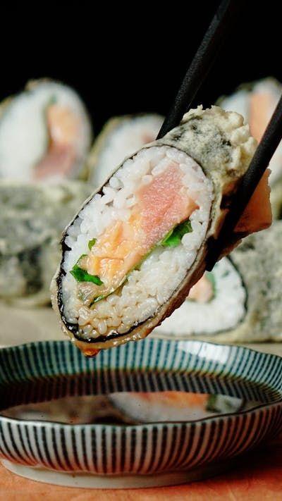 Ricetta Sushi In Tempura.Easy Tempura Sushi Ricetta Ricette Cibo Ricette Crude