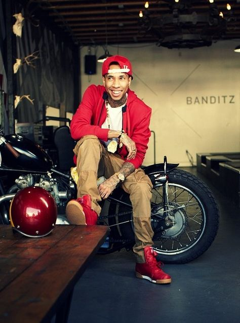 Tyga red on red