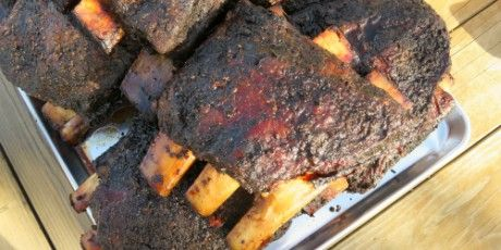 Smoked Beef Ribs Recipes Food Network Canada Recipe Smoked Beef Ribs Smoked Beef Beef Ribs