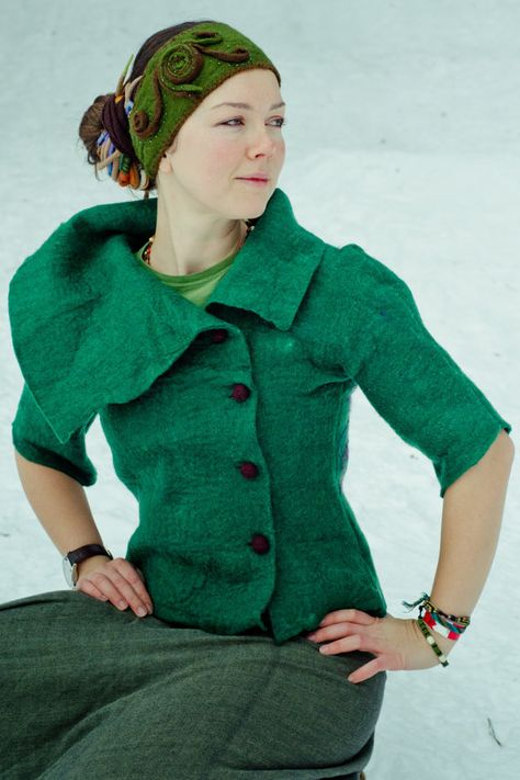 Hand made Merino wool jacket felted jacket by FeltedFeelings, $150.00