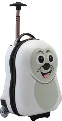Für die braven kleinen Urlauber, gibt es niedlich designte Koffer die vom Reisestress und der ungewohnten Umgebung ablenken. We love Cuties <3 http://www.kofferprofi.de/Reisegepaeck/Kinderkoffer/The-Cuties-and-Pals-Seehund-Trolley.html#