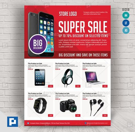 Super Sale Flyer - PSDPixel