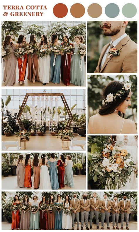 Wedding Color Pallet, Rustic Wedding Colors, Fall Wedding Colors, November Wedding Colors, Color Scheme Wedding, Color Themes For Wedding, Autumn Wedding Decorations, Wedding Color Palettes, Rustic Bohemian Wedding