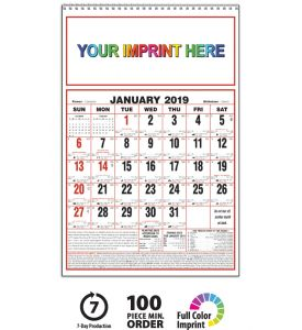 2019 Almanac Calendar Large Personalize With Your Imprint This