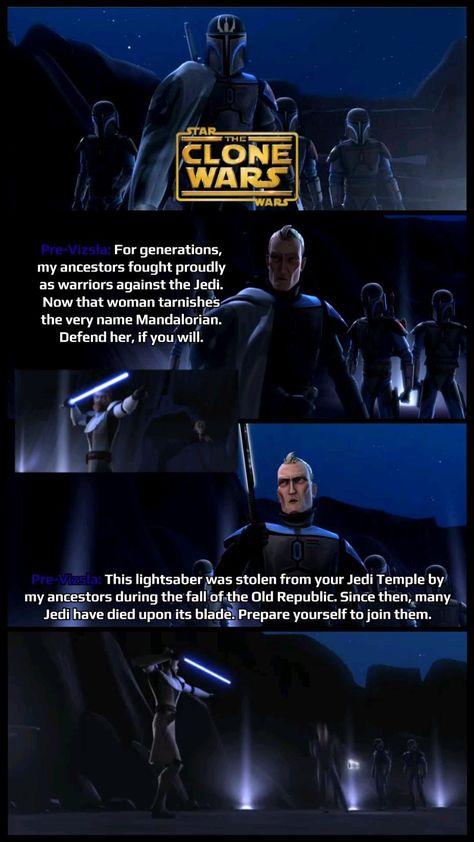 Master Obi-Wan Kenobi vs Pre-Vizla The Mandalor