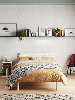 House By John Lewis Bow Slatted Headboard Bed Frame Double Oak Shelves In Bedroom Modern Bedroom Decor Slatted Headboard