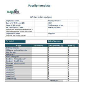 Salary Slip Templates 19 Free Printable Ms Docs Xlsx