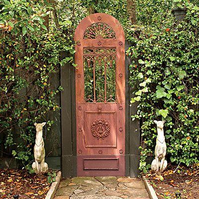 104 Best Fence Options Images On Pinterest Facades Gates And   Antique  Garden Doors   Best