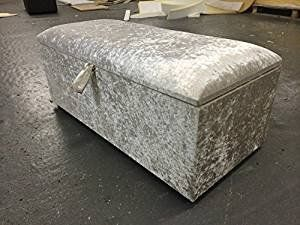 Colchester Ottoman In  Chennile Fabric  /& Ideal Storage and Seating Solution