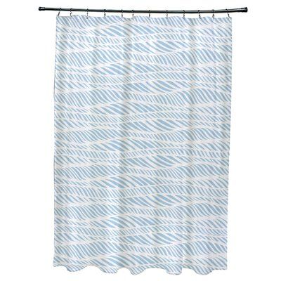 Bloomsbury Market Viet Rolling Waves Single Shower Curtain