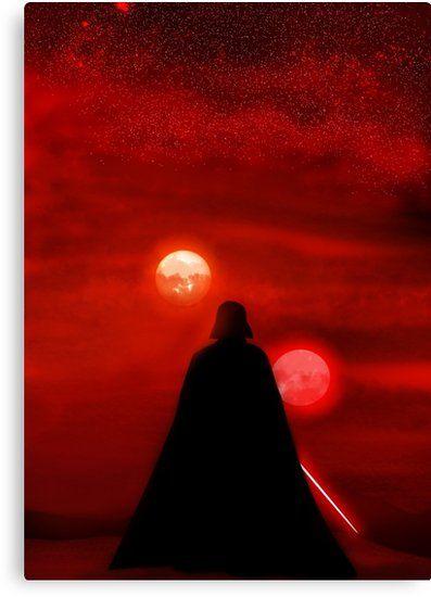 Buy Star Wars Darth Vader Tatooine Sunset By Popitonthewall As A T Shirt Classic T Shirt Tri Blend T S Star Wars Painting Star Wars Wallpaper Star Wars Art