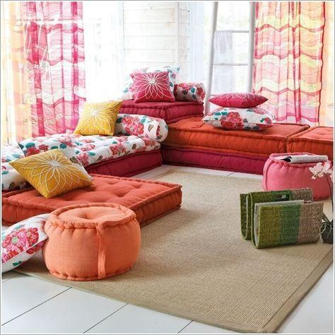 10 Wonderful Alternatives To A Living Room Sofa Floor Seating Living Room Floor Pillows Living Room Floor Cushions Living Room