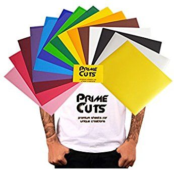 Primecuts Htv 15 Heat Transfer Vinyl Sheets Color Pack Gold Silver 12 X 10 For T Shirts Heat Transfer Vinyl Tutorial Heat Transfer Vinyl Create T Shirt