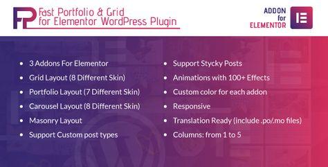 Fast Portfolio & Grid for Elementor WordPress Plugin | Codelib App