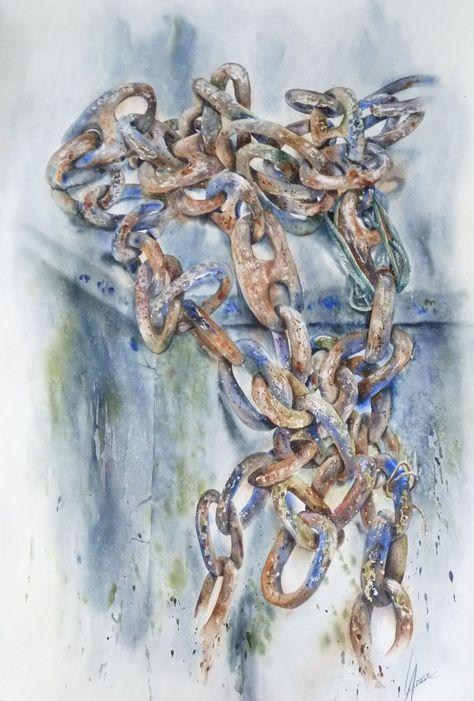 Les Chaines De Socoa Aquarelle Anne Larose Dessin Pastel Acrylique