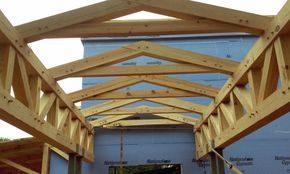 Covered Entryway Timber Frame For A Church Near Atlanta Roof Coming Soon Timber Framing Timber Frame Construction Timber Frame Cabin