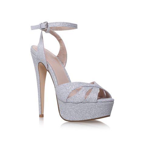 Layer Silver High Heel Platform Sandals