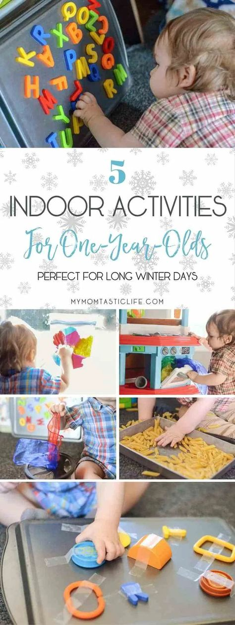 5 Indoor Activities For One-Year-Olds (Perfect For Long Winter Days) Best Picture For Montessori Activities list For Your Taste You are looking for something, and it is going to tell you exactly what Baby Learning Activities, Activities For 5 Year Olds, Babysitting Activities, Indoor Activities For Toddlers, Rainy Day Activities, Montessori Activities, Infant Activities, Activity Days, 1 Year Old Games
