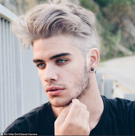 David Carerra, from Calella, Spain, was dubbed the 'perfect combination' of Zayn Malik and Justin Bieber when @DailyManCandy tweeted this picture