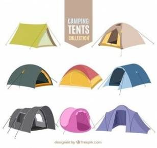 camping tent drawing easy