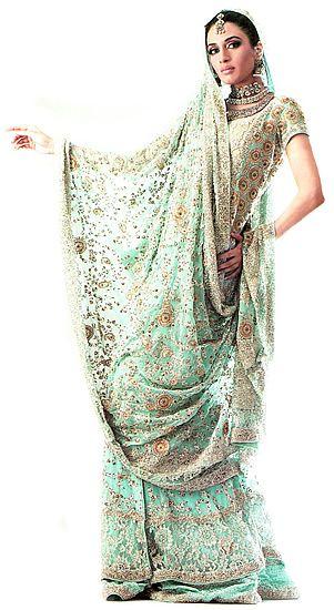 4df28b3309 BW7634 Light Aqua Gharara Bridal Dress Wood Green Shopping city Online Shop  London UK Bridal Wear