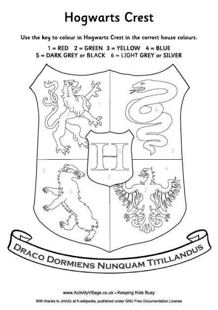 Harry Potter House Crest Coloring pageIm thinking we need this