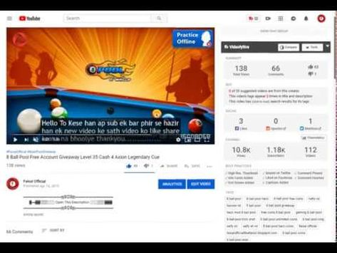 8 Ball Pool Free Account Giveaway Level 35 Cash 4 Axion Legendary Cue Wi Pool Hacks Youtube Pool Balls