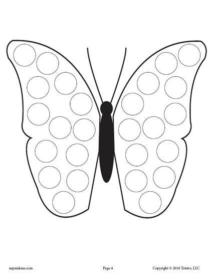 12 Spring Do A Dot Printables Butterfly Crafts Preschool