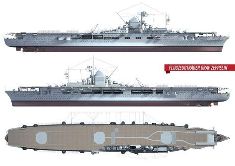 Graf Zeppelin exterior schematic. | ⚓Nautical water-craft ... on