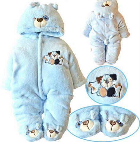 13567aa26a6 Newborn Baby Clothes Girls Boys Romper Winter Jumpsuit Thicken Cotton 0-3M  Blue