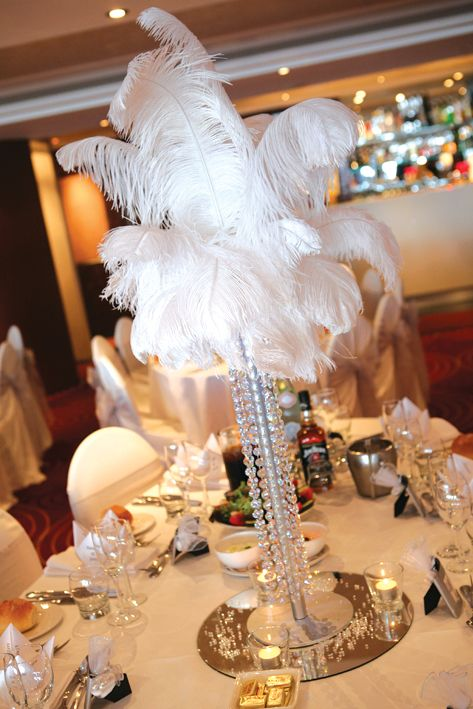 Bling Bling! CAN USE FLOWERS INSTEAD OF FEATHERS TOO..