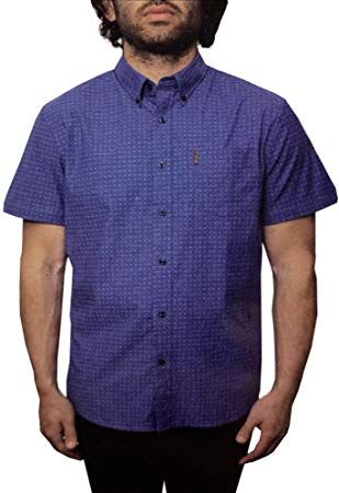 99af9ecc4085f New Ben Sherman Men's Short Sleeve Stretch Woven Button-Down Shirt Men  Clothing. [