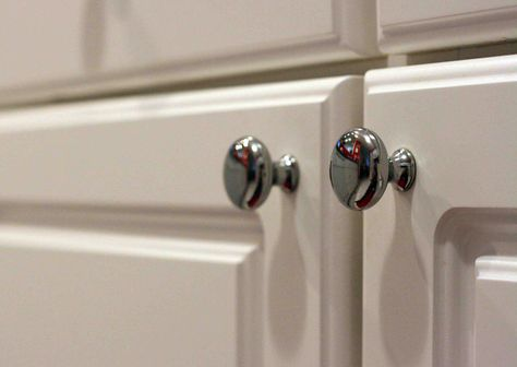 Guidance on how to measure round cabinet knob location. | Kitchen ...