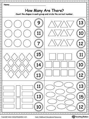 Number 10 And 11 Worksheets For Kindergarten In 2020 Preschool Math Worksheets Kindergarten Math Worksheets Kindergarten Worksheets