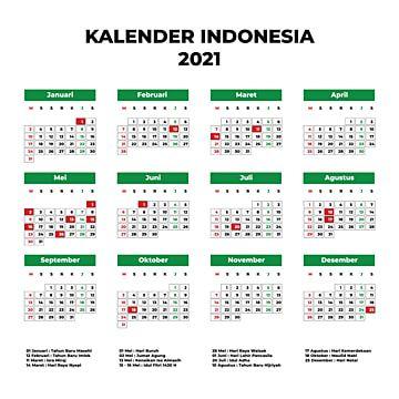 Calendar Indonesia 2021 Calendar Design Template Calendar Design Wall Calendar Design