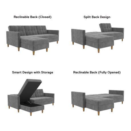 Hephzibah Reversible Sectional Futon Reviews Joss Main Modern Furniture Living Room Home Decor Sectional Sofa