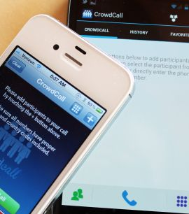 Create A Conference Call On The Go With Crowdcall Simple App