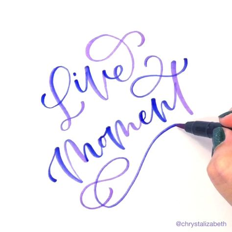 Brush lettering by Chrystal Elizabeth @chrystalizabeth using Kuretake Fudebiyori Brush Pens #brushlettering #moderncalligraphy #handlettering #chrystalizabeth