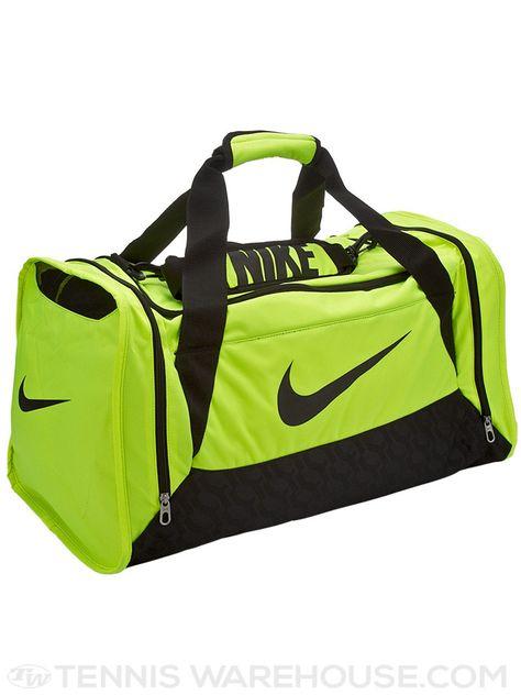 Nike Brasilia 6 Duffel Bag Medium Volt | Medium bags, Duffel