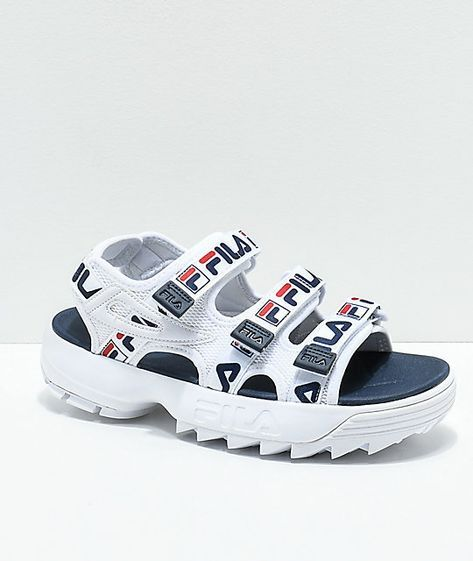 FILA Disruptor Taping Platform Sandal | Fashion in 2019 ...
