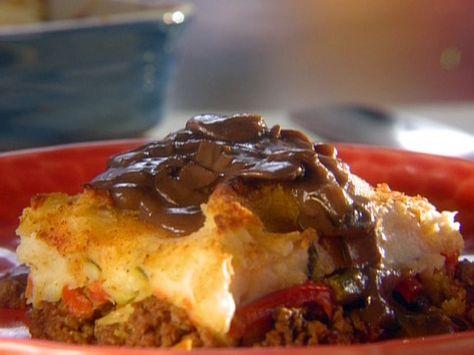 Shepherd S Pie With Mushroom Onion Gravy Recipe Food Network Recipes Stuffed Mushrooms Onion Gravy