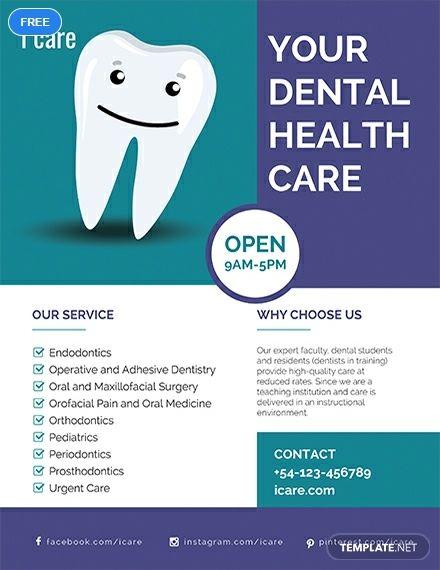 Free Dental Care Flyer | Dental | Free dental care, Dental