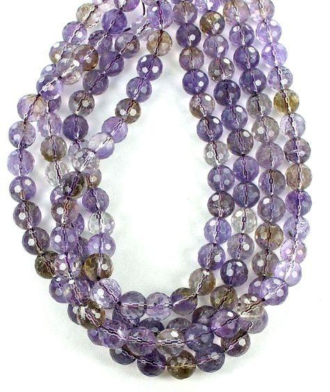 Ametrine Round Beads 6mm Purple//Golden 60 Pcs Frosted  Gemstones DIY Jewellery