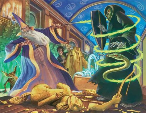 Harry Potter Dueling Wizards Mary GrandPre SIGNED Giclee on Fine Art Paper Limited Edition of 250