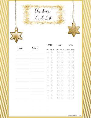 Free Printable Christmas Gift List Template Free Christmas Printables Christmas Gift List Christmas Cards Free