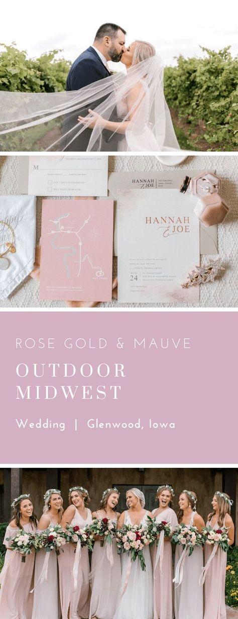 Mauve, blush and rose gold wedding invitations Beautiful unique wedding invitations Dana Osborne Design www.danaosbornedesign.com #weddingcolorideas #rosegoldwedding #weddingplanningtips