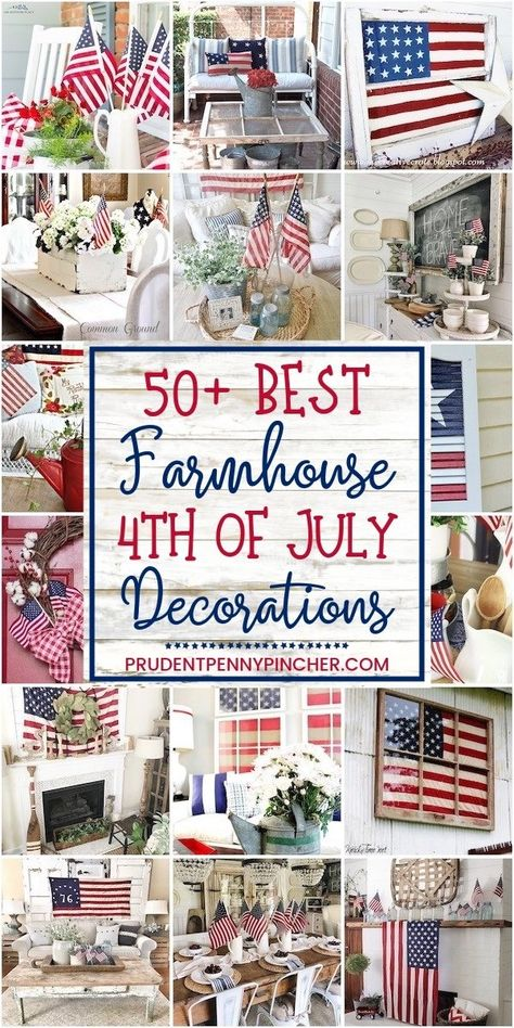 50 Farmhouse of July Decorations farmhouse diy homedecor memorialday 498351515016351226 Fourth Of July Decor, 4th Of July Celebration, 4th Of July Decorations, 4th Of July Party, July 4th, Americana Decorations, Rustic Americana Decor, Patriotic Crafts, Patriotic Party