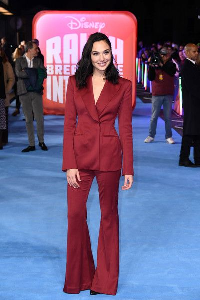 Gal Gadot attends the European Premiere of 'Ralph Breaks The Internet' at The Curzon Mayfair.