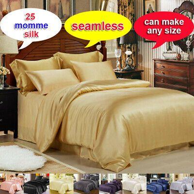 25MM 100/% Silk Seamless Comforter Cover Bottom Sheet Top Sheet /& Set Full Size
