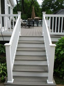 Stain On Stairs Cabot S Aquadeck Tinted Blackburn Which Is At The Paint Counter Using Beach House Grey Base It Adds